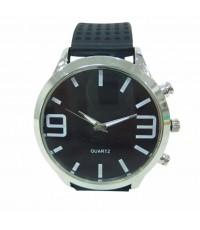QUARTZ นาฬิกาข้อมือ นาฬิกาข้อมือแฟชั่น นาฬิกาผู้ชาย ผู้หญิง วัยรุ่น ทันสมัย ราคาถูก [black-white]