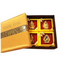 เซ็ทของขวัญ เข็มกลัดพระพุทธชินราช พร้อมกล่องผ้าไหม