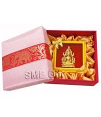 เข็มกลัดพระพุทธชินราช+กล่องผ้าไหม