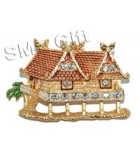 บ้านทรงไทย (เข็มกลัดประดับคริสตัล)