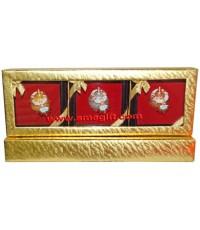 เบญจรงค์ ทอง นาก เงิน ในกล่องทอง