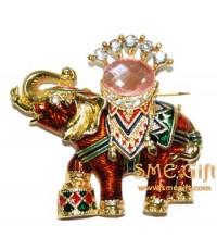 ช้างเหยียบกลอง (สีแดง)