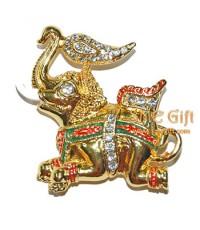 ช้างทรงพระคชาธาร (สีทองเงา)