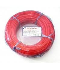 สายยาง Crystal สีแดง