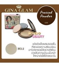 แป้งผสมรองพื้น Pressed Powder By Gina Glam ราคาส่งถูกๆ No.02 W.95 รหัส MP477