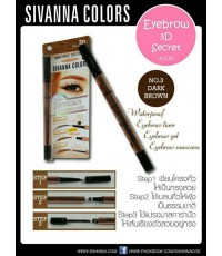 sivanna colors erows\'secret No.03(dark brown) HF635 ราคาส่งถูกๆ w.31 รหัส K159