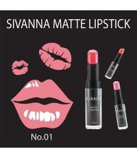 ลิปสติกซีเวียนา Sivanna colors matte lipstick No.01 ราคาส่งถูกๆ w.20 รหัส L31