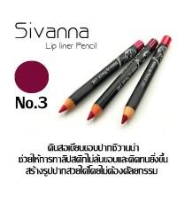 ดินสอเขียนขอบปาก Sivanna Make Up Lip Liner Pencil ราคาส่งถูกๆ(ยกแพ็ค) No.03 W.43 รหัส L182