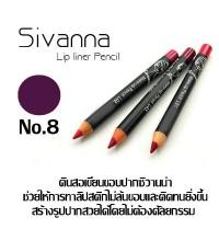 ดินสอเขียนขอบปาก Sivanna Make Up Lip Liner Pencil ราคาส่งถูกๆ(ยกแพ็ค) No.08 W.43 รหัส L184