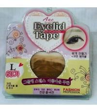 สติ๊กเกอร์ทำตาสองชั้นแบบตาขาย AAC eyelidTape ราคาส่งถูก ไซส์ L 60คู่ W.20 รหัส EM396