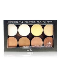 odbo highlight  contour pro palette ราคาส่งถูกๆ NO.1 W.62 รหัส F99
