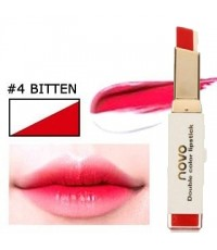 NOVO Double color lipstick No.04 BITTEN ราคาส่งถูกๆ W.42 รหัส L504