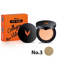Verena Envy Powder แป้งพัฟ ผสม Collagen+VitaminC 03 เหมาะสำหรับผิวคล้ำ ราคาส่งถูก w.85 รหัส MP469