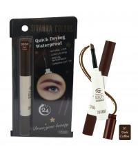 SIVANNA COLORS Eyebrow Cream Beauty Waterproof สี 01 Dark Coffee ราคาส่งถูกๆ W.35 รหัส K39