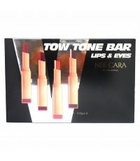 NEE CARA Tow Tone Bar Lips  eyes ลิป แอนด์ อายแชโดว์ 2 โทน ราคาส่งถูกๆ W.125 รหัส L489