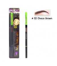 Jao Nang Noy Super Slim Fit Auto Eyebrow สี 02 Choco Brown ราคาส่งถูกๆ W.25 รหัส K171