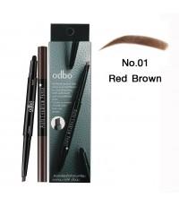 odbo โอดีบีโอ ออโต้ อายบราว เพ็นซิล No.01 Red Brown ราคาส่งถูกๆ W.40 รหัส K121