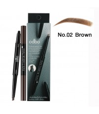 odbo โอดีบีโอ ออโต้ อายบราว เพ็นซิล No.02 Brown ราคาส่งถูกๆ W.40 รหัส K122