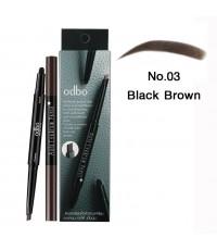 odbo โอดีบีโอ ออโต้ อายบราว เพ็นซิล No.03 Black Brown ราคาส่งถูกๆ W.40 รหัส K123