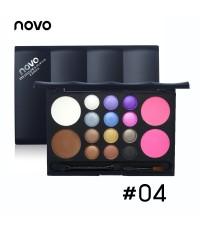 novo eyeshadow  powder rouge พาเรทอายแชโดว์ 12+4 make up No.04 ราคาส่งถูกๆ w.230 รหัส ES127