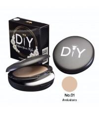 DIY Define Your Style Foundation Powder แป้งพัฟ แป้งผสมรองพื้น No.01 ราคาส่งถูกๆ W.58 รหัส MP179