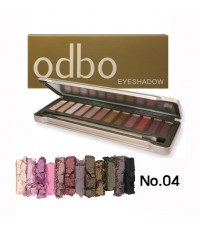 odbo โอดีบีโอ อายแชโดว์ พาเลท พาเลท 12 โทนสี No.04 ราคาส่งถูกๆ w.185 รหัส ES206