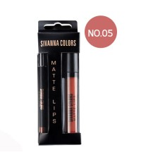 SIVANNA COLORS Matte Lip 2in1 Stick  liner เบอร์ 05 ราคาส่งถูกๆ W.60 รหัส L550