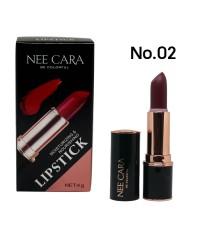NEE CARA Lipstick moisturizing  nourishing No.02 ราคาส่งถูกๆ W.50 รหัส L109