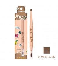 ดินสอเขียนคิ้ว Meilinda Jelly Brow Baby Brush No.01-Milk Tea Jelly ราคาส่งถูกๆ W.30 รหัส K60