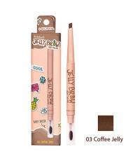 ดินสอเขียนคิ้ว Meilinda Jelly Brow Baby Brush No.03- Coffee jelly ราคาส่งถูกๆ W.30 รหัส K65