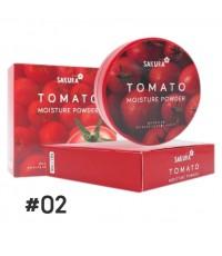 แป้งพัฟมะเขือเทศ SAKURA Tomato Moisture Powder No.02 ราคาส่งถูกๆ W.110 รหัส MP412