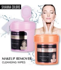 sivanna colors Makeup Remover Cleansing Wipes กระปุกสีชมพู 100 sheets ราคาส่งถูกๆ W.210 รหัส FC12