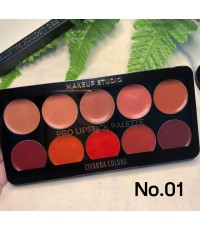 Sivanna colors Pro lipstick palette เซทลิป 10 สี No.01 ราคาส่งถูกๆ W.140 รหัส L375