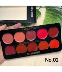 Sivanna colors Pro lipstick palette เซทลิป 10 สี No.02 ราคาส่งถูกๆ W.140 รหัส L376