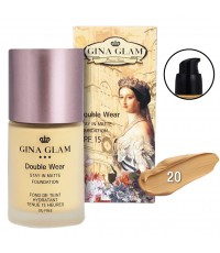 Gina Glam Double wear stay in matte foundation No.20 ราคาส่งถูกๆ W.145 รหัส F283