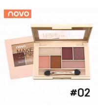 NoVo Elegant Makeup Look อายแชโดว์ เบอร์ 02 ราคาส่งถูกๆ w.70 รหัส ES116