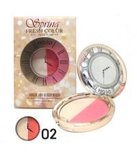 NOVO spring Fresh color บลัชออนรูปนาฬิกา No.02 ราคาส่งถูกๆ w.60 รหัส BO378