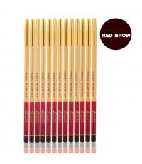ดินสอเขียนคิ้วแท่งทอง Ashley Slim Eyebrow Pencil  RED BROWN ราคาส่งถูกๆ W.50 รหัส K160