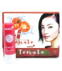 Lip Balm Tomato Sakura ลิปปาล์มมซากุระ กลิ่นมะเขือเทศ ราคาส่งถูกๆ W.200 รหัส L227