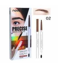 Novo Precise Shape Eyebrow ดินสอเขียนคิ้ว+รีฟิล+มีดกันคิ้ว No.02 ราคาส่งถูกๆ W.50 รหัส K188