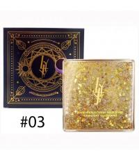 LYJY Miraculous Quicksand Eyeshadow No.03 ตลับเหลือง ราคาส่งถูกๆ W.185 รหัส ES75-3