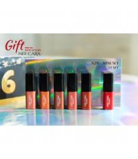Nee Cara Mini Set Matte Lip Glaze Set 01 ราคาส่งถูกๆ W.80 รหัส L228-1