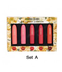Sivanna Colors 5 x LIPSTICK COLLECTION HF398 Set A ราคาส่งถูกๆ W.90 รหัส L789-1