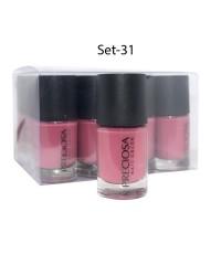 Preciosa Nal Color ยาทาเล็บเจล แบบไม่ต้องง้อเครื่องอบ Set 31 (ยกเซ็ต 12 ชิ้น) W.650 รหัส N90-31
