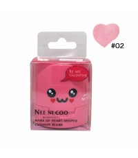 NEE NI COO MARK OF HEART-SHAPED CUSHION BLUSH No.02 ราคาส่งถูกๆ W.75 รหัส BO399-2