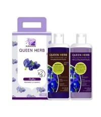 แชมพูสมุนไพรควีนเฮิร์บ Queen Herb x2 up อัญชัน W.920 รหัส H1