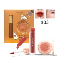 Nee cara Makeup Blush  lip Glaze เซ็ตลิป+ปัดแก้ม No.03 ราคาส่งถูกๆ W.110 รหัส L17-3