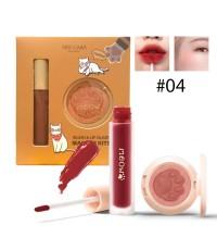 Nee cara Makeup Blush  lip Glaze เซ็ตลิป+ปัดแก้ม No.04 ราคาส่งถูกๆ W.110 รหัส L17-4