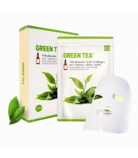 Green Tea+ Mask Hyaluronic Acid Collagen m.meiday (ขายเป็นซอง) ราคาส่งถูกๆ W.45 รหัส S94
