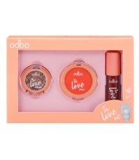 Odbo in love set โอดีบีโอ อิน เลิฟ เซ็ท OD1038 No.02 ราคาส่งถูกๆ W.100 รหัส BO503